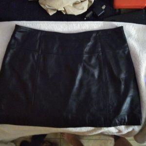 Wilson's leather mini skirt M